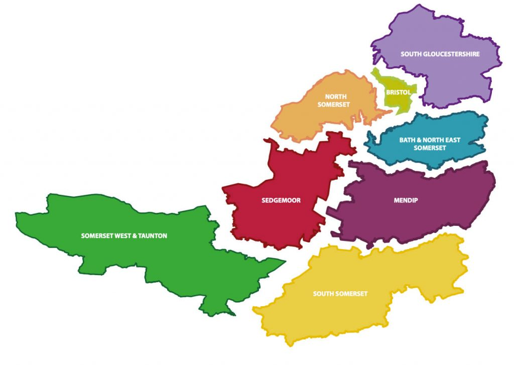The Avon and Somerset policing area
